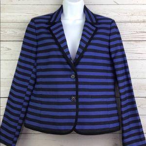 LOFT purple/black stripe blazer worn once